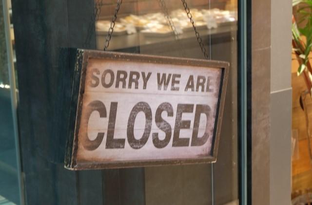 閉店のイメージ画像。