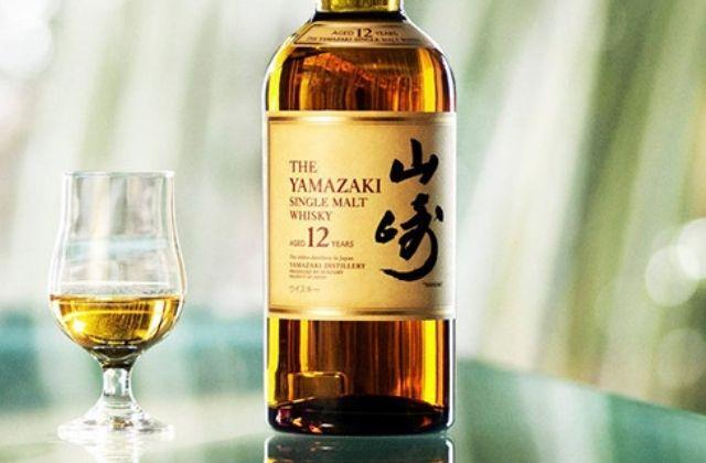 山崎のボトルの画像。