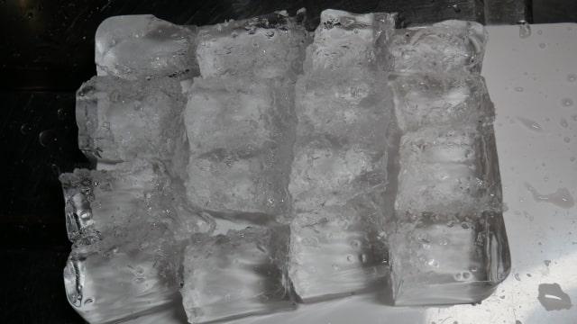 16等分にされた氷の画像。
