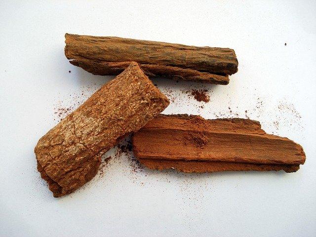 トニックウォーターの原料、キナ樹皮の画像。
