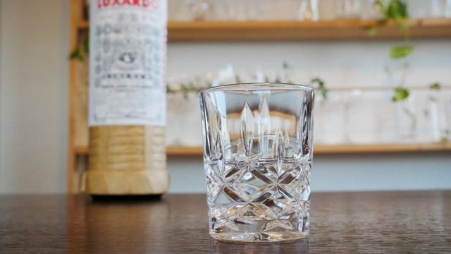 マラスキーノが注がれたグラスの画像。