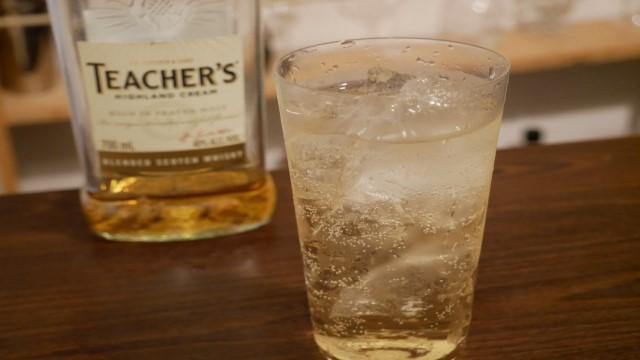 ティーチャーズのソーダ割りの画像。