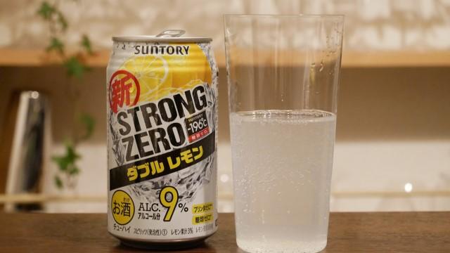 ストロングゼロのダブルレモンの画像。