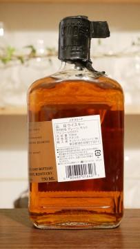 ノブクリークのボトル、背面の画像。