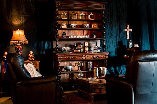 ウィスキーを飲む空間の画像。