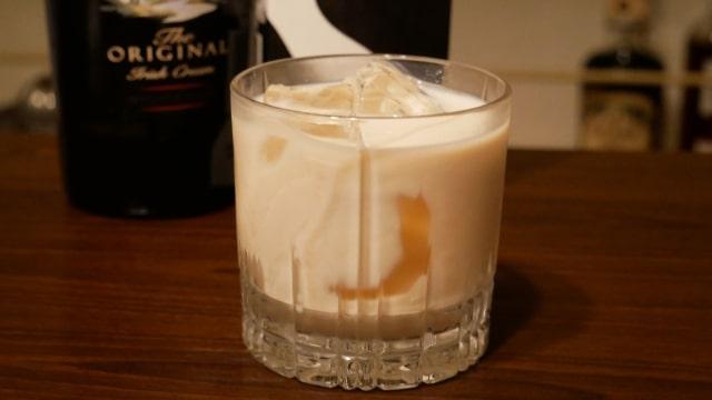 完成したベイリーズミルクの画像。